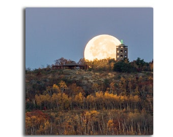 Hunter's Moon at Enger Tower - Canvas Print