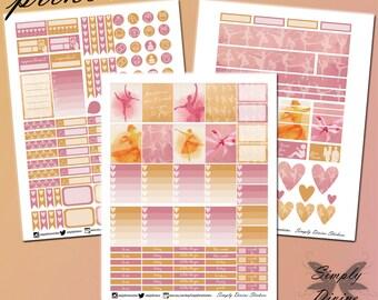 Prima Ballerina Kit/Printable/Erin Condren Planner Stickers/Weekly Planner Sticker Kit/Download/PDF