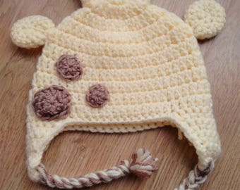 Hand Crocheted Giraffe Hat (Baby and Toddler sizes)