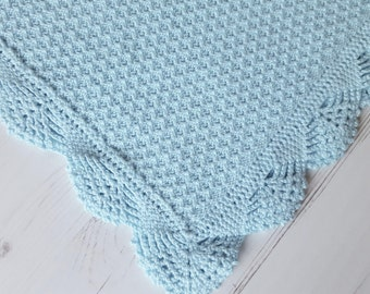 "Made To Order Baby Blanket/ Cotton Knitted Baby Blanket/ Baby Wrap 30""x 39"""