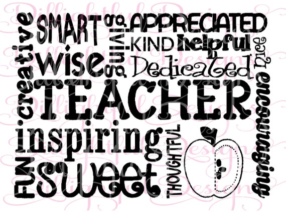 Inspirational Quotes For Principals: Teacher Appreciation Saying SVG Decal Phrase
