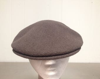 Vintage 90's Kangol Brown Newsboy Cabbie Hat Size Large Golf Cap