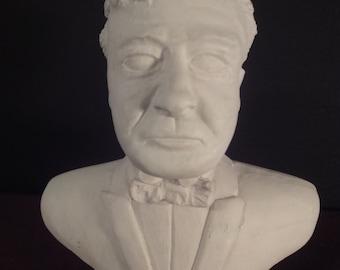 chalk bust of the famous composer KARAJAN stands 15cm