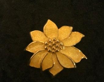 Vintage Sunflower Brooch/Pendant