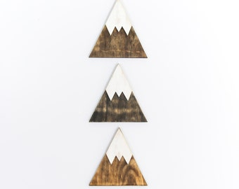 Mountain Wall Decor, Rustic Home Decor, Mountain Wood Art, Wood Wall Art, Mountain Art, Distressed Wood Wall Art, Wood Art, Wooden Decor