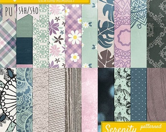 Serenity Patterned Papers