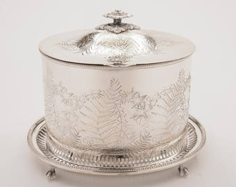 Victorian Oval Biscuit/Cookie Box, Circa 1880