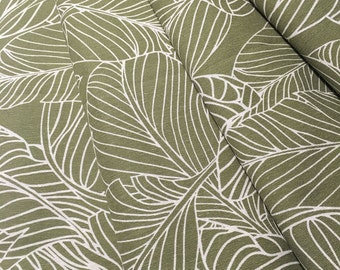 Leaves Curtains- Custom Curtains- Green Curtains- Olive Green- Curtains- Cotton Curtains- Leaf Curtains- Window Curtains- Curtain Panels