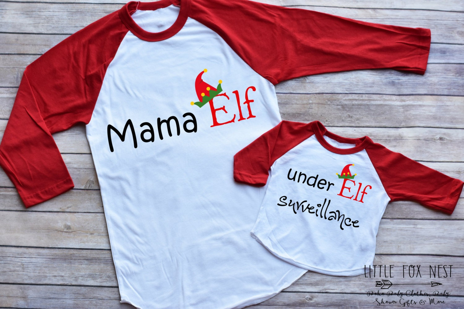 Mommy and Me Christmas Outfit Christmas Shirts Elf Shirts