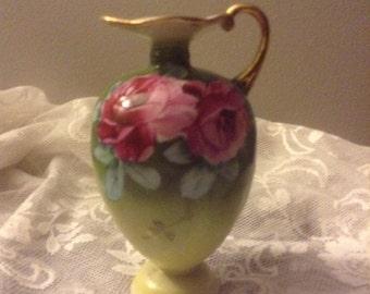 Gold trimmed bud vase