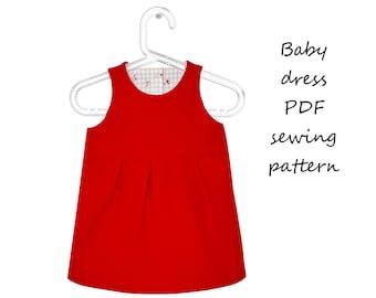 Baby dress sewing pattern PDF download, baby sewing patterns, sewing patterns dress