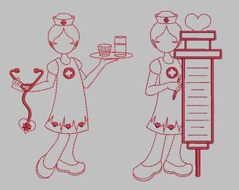 Loving Care Nurses Machine Embroidery Designs