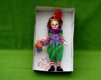 Vintage Effanbee CollectibleDoll, Clarence the Clown, 1984