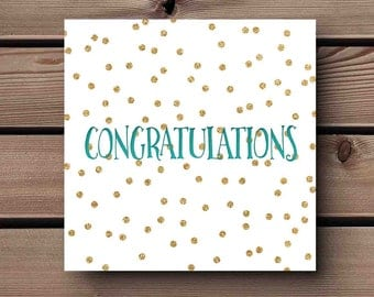 Congratulations printed cards – variety of designs