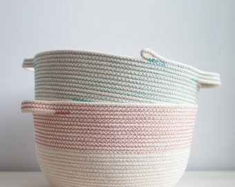 Small Rope Coil Basket