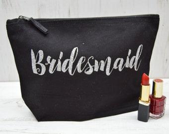 Bridesmaid Make Up Bag | Bridesmaid Makeup Bags | Large Toiletry Bag | Bridal Shower Gift | Bridesmaid Gift | Hen Party Favors