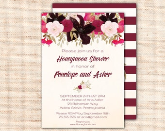 travel bridal shower invitation printable honeymoon bridal