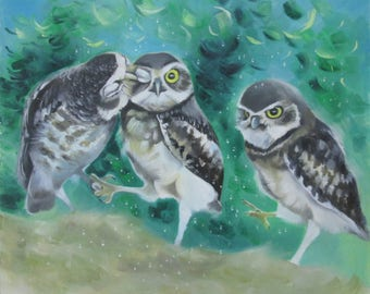 "painting ""Owls"""
