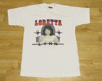 Vintage Loretta Lynn shirt tshirt 80s Coal Miners Daughter