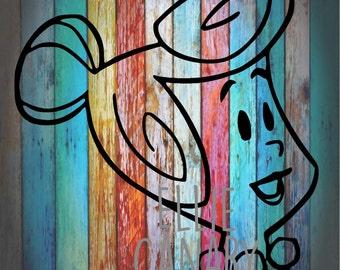 Wilma Flintstone (Head) Instant Pot Decal *Rainbow Background Not Included*