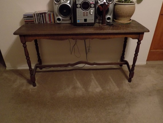 Console table sofa table vintage table by savagecatscratch for Long sofa table 60