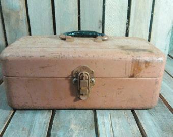 Wizard Tool Box/Vintage Tool Box/Metal Tool Box/Metal Box/Vintage Box/Toolbox/Vintage Toolbox/Old Tool Box/Rusty Tool Box/Old Box/Tackle Box