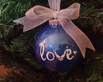Air Force Love Christmas Ornament, USAF Ornament, Air Force Christmas Ornament, Military Service Ornament, Air Force Love