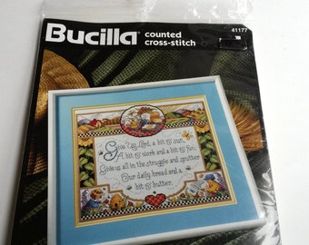 Bucilla counted cross stitch kit Give Us Lord