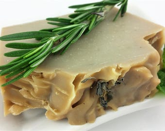 Rosemary Soap - Natural Soap - Peppermint Soap - Handmade Soap- Cold Process Soap - Soap for Acne- Palm Free Soap- Specialty Soap- Hand Soap