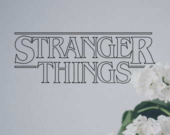 Stranger Things Black Vinyl Sticker for Indoor and Outdoor