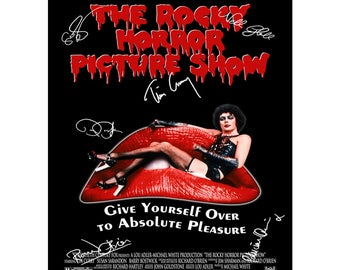 The Rocky Horror Picture Show cast pre signed photo print poster - 12x8 inches (30cm x 20cm) - Superb quality