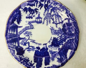 Royal Crown Derby Mikado saucer from 1953