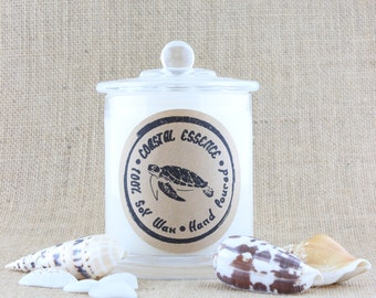 Coconut & LIME soy candle, A breezy beach fragrance from Coastal Essence. Every candle purchased helps support Marine Wildlife
