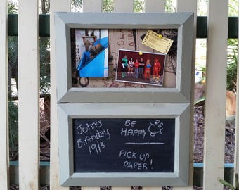Chalkboard organizer/notice board //  notice board // kitchen organisation // housewarming gift // gift for her // photo board //