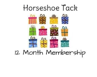 12 month Horseshoe Tack Membership