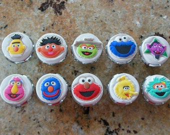 10 Sesame Street Character Polymer Knobs