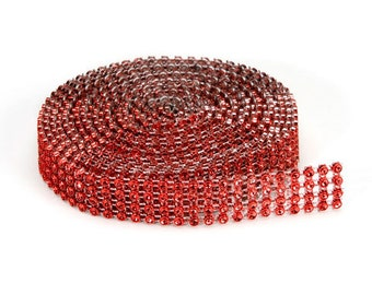 Darice® Bling on a Roll - Red - 4 Row - 3mm x 3 yards