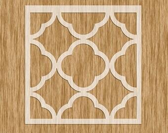 PM0100 - Moroccan  Tile Design Stencil