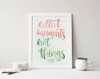 Watercolour Hand-lettered quotes