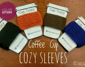 Coffee Cup Cozy Sleeves