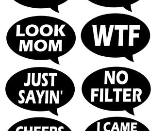 Photo booth prop speech bubble etsy for Photo booth speech bubble template