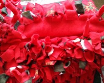 Fleece Tied Throw Blanket, (Christmas theme)