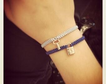Braided charm bracelet