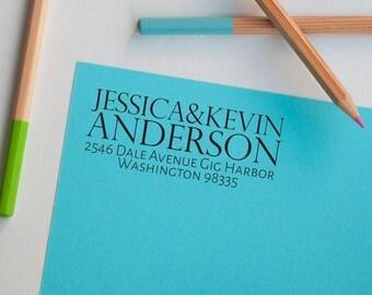 Address Stamp, Realtor Stamp, Realtor Gift, Personalized Address Stamp, Newlywed, Return Address Stamp, Self Inking/Pre-inked Stamp, Gifts