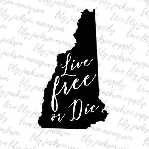 Live free or die new hampshire svg state of nh motto