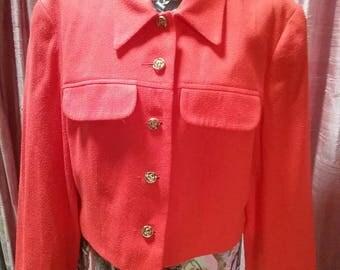 60s tangerine waist length jacket