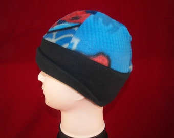 Boys fleece cap with wide blac
