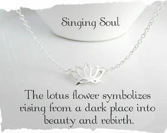 Lotus Flower necklace, Reiki Jewelry, yoga jewelry,  Zen necklace, Bohemian necklace, lotus, meditation jewelry, meditation necklace