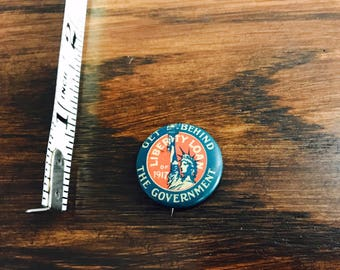 Get Behind The Government Lady Liberty Loan of 1917 Pin