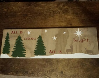 Personalized painted wood decor/ 8x24 plank wall decor/holiday wood decor